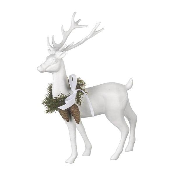 Dekorácia Reindeer White, 31x24x9 cm