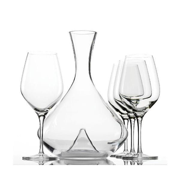 Set 4 pohárov a dekantéru na víno Exquisit