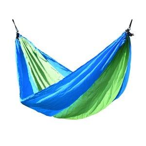 Zeleno-modrá hojdacia sieť Cattara Nylon