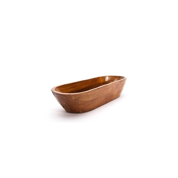 Ručne vyrobená teaková misa Fup, 50 cm