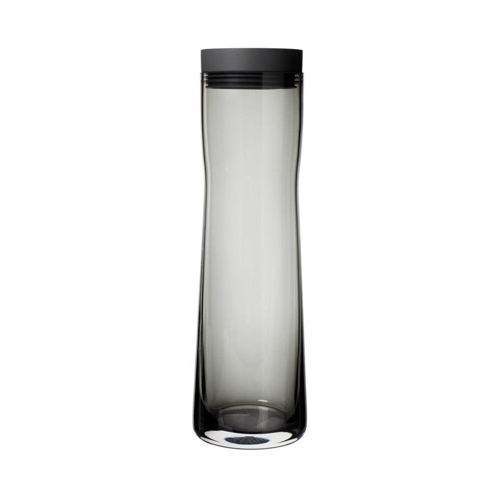 Čierna sklenená karafa na vodu Blomus Splash, 1 l