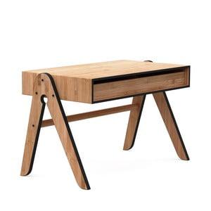 Detský písací stôl z bambusu Moso s čiernymi detailmi We Do Wood Geo 's