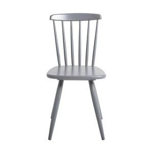 Sivá jedálenská stolička z borovicového dreva SOB Irelia