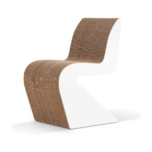 Kartónová stolička Amanda White