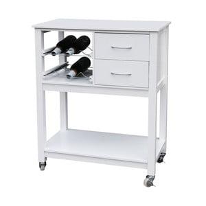 Biely drevený kuchynský vozík Premier Housewares