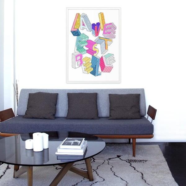 Maľovanka OMY La vie este belle (70 x 100 cm)