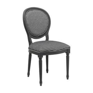 Čierno-biela jedálenská stolička Kare Design Pepita