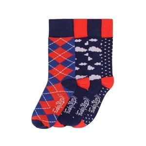 Sada 4 párov farebných ponožiek Funky Steps Josh, veľ. 35-39