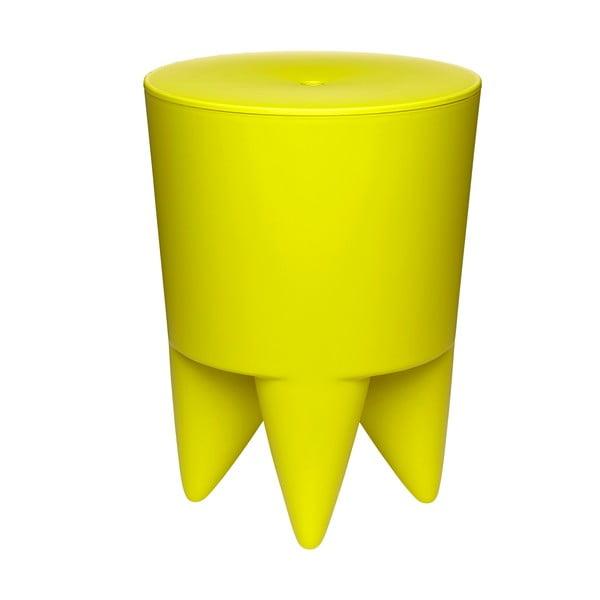 Univerzálny stolík/kôš/chladič na ľad Bubu, žltý