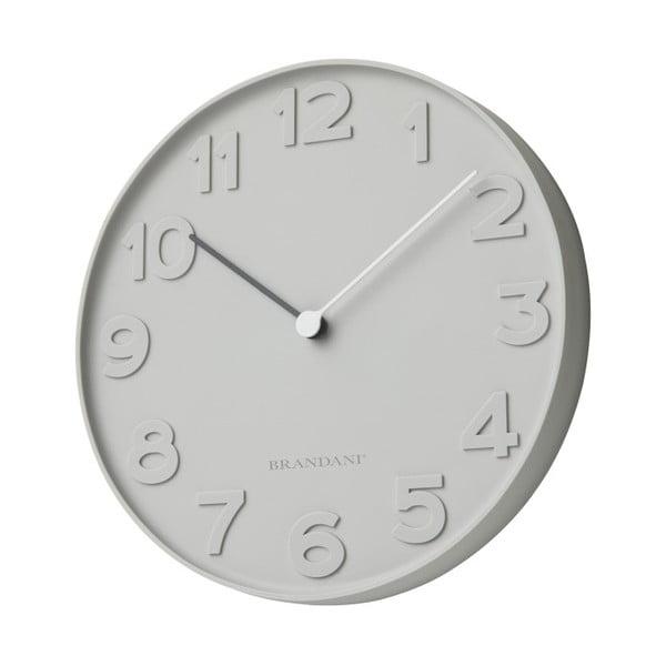 Sivé nástenné hodiny Numbers