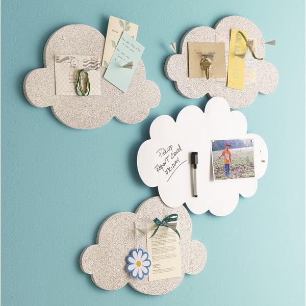 Biela magnetická nástenka v tvare oblaku Design Ideas Cloud