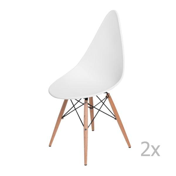 Sada 2 stoličiek D2 Rush DWS, biele