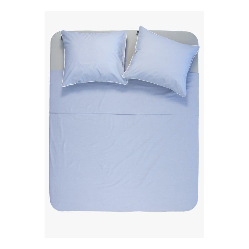 Modrá obliečka z bavlny Ambianzz, 220 x 140 cm