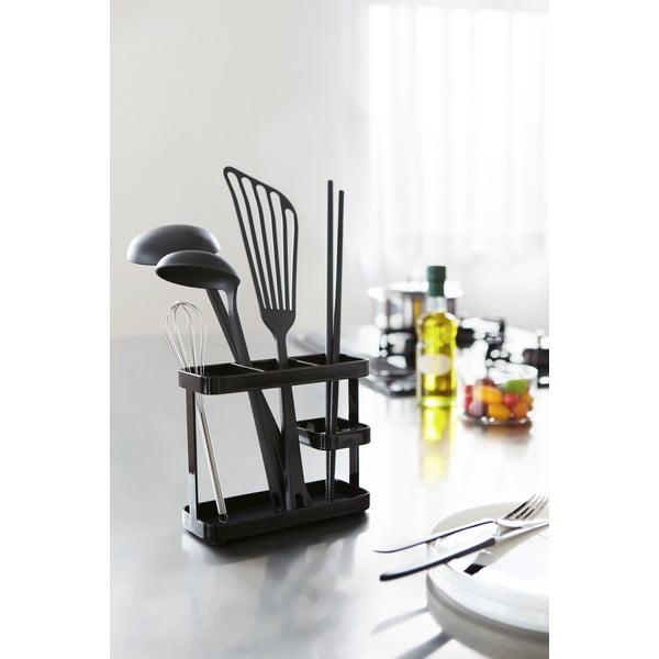 Čierny stojanček na kuchynské nástroje Yamazaki Tower