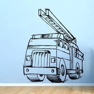 Samolepka Požiarnici s rebríkom sprava, 75x60 cm