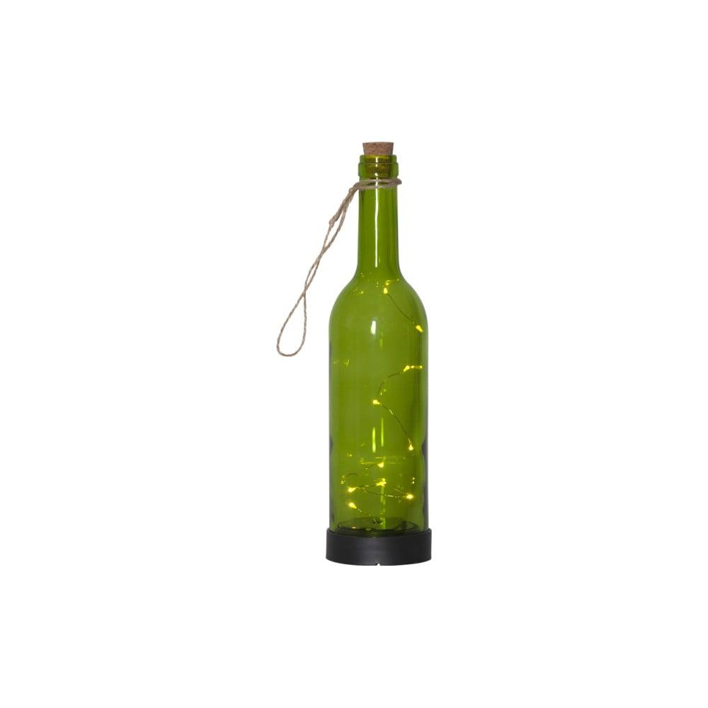 Zelené vonkajšie solárne LED svietidlo ve tvaru láhve Best Season Bottle