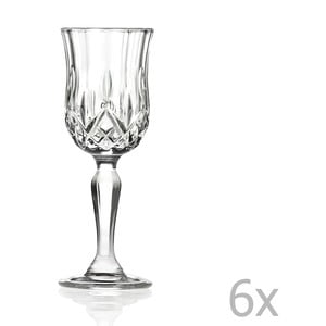 Sada 6 pohárov na sekt RCR Cristalleria Italiana Luciana