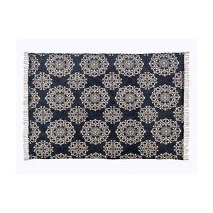 Sivý vzorovaný koberec z bavlny Cotex Valan, 70 × 140 cm