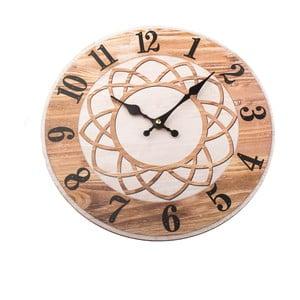 Drevené nástenné hodiny Dakls, ø 34 cm