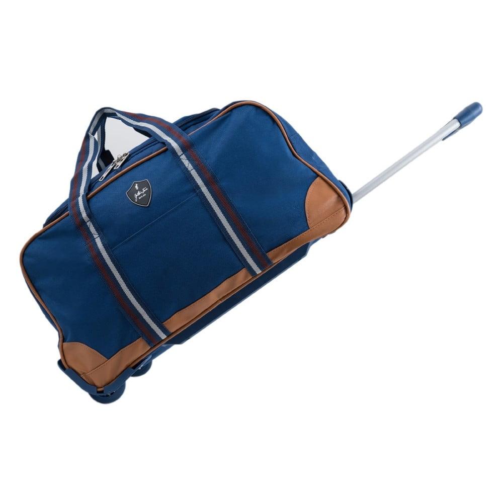Modrá cestovná taška na kolieskách GENTLEMAN FARMER Sydney, 40 l