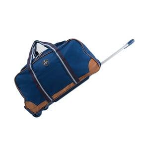 Modrá cestovná taška na kolieskách GENTLEMAN FARMER Sydney, 93 l