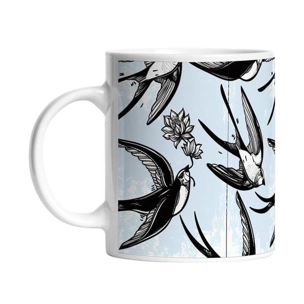 Keramický hrnček Swallow Bird, 330 ml