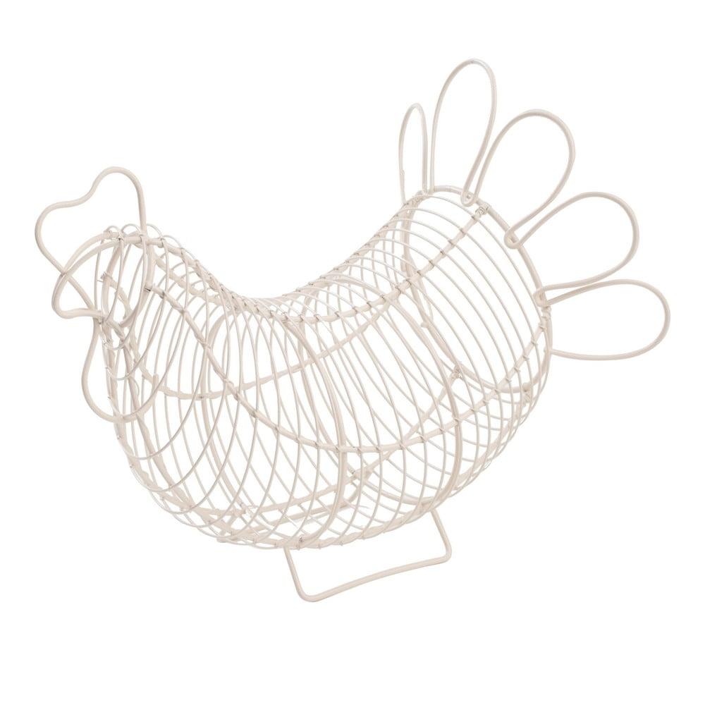 Biely kovový košík na vajíčka T&G Woodware Chicken
