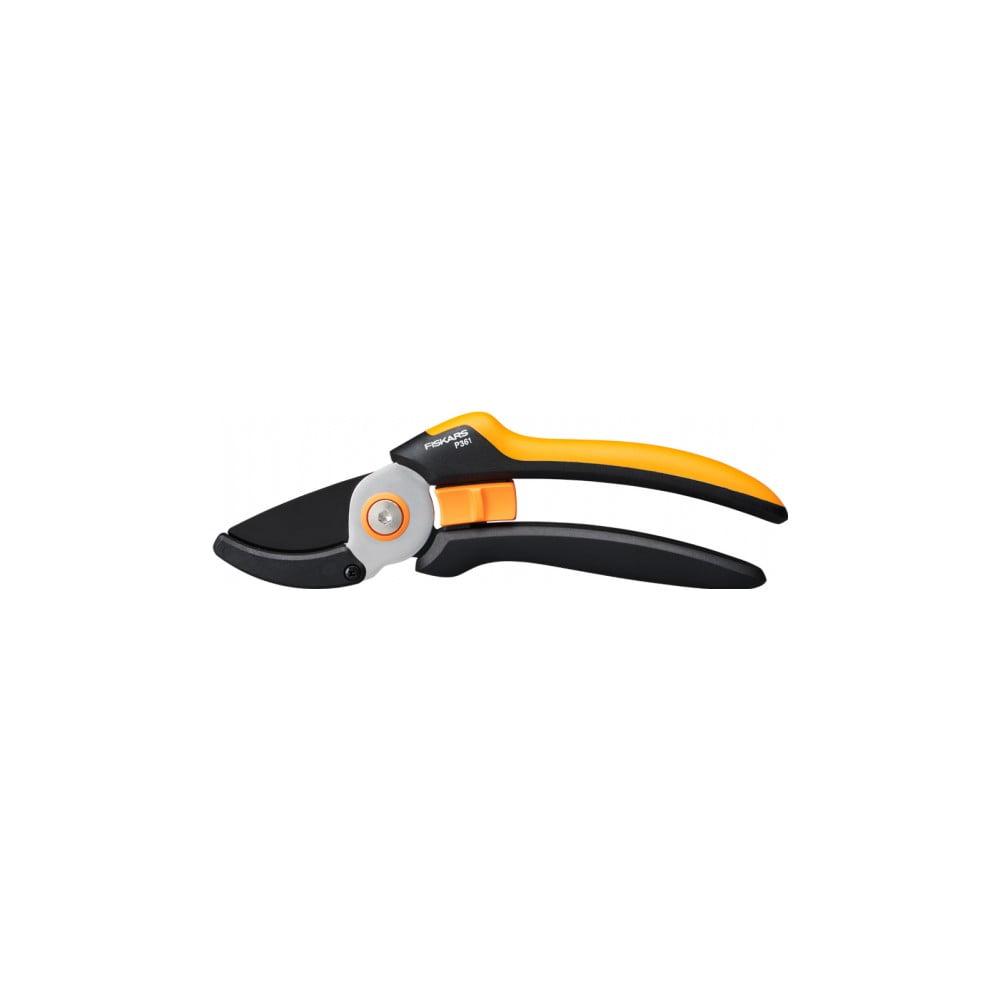 Čierne oceľové jednosečné nožnice Fiskars Solid