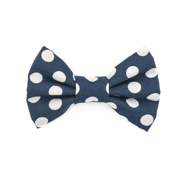 Modrý charitatívny psí motýlik s veľkými bodkami Funky Dog Bow Ties, veľ. L