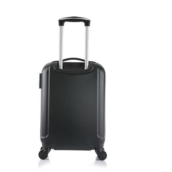 Čierny cestovný kufor s príručnou batožinou Bluestar