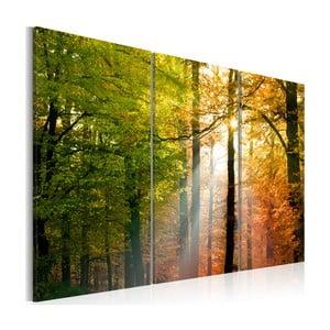Obraz na plátne Artgeist Autumn Forest, 120x80cm