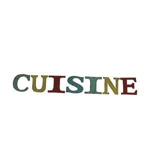 Dekoratívny nápis Cuisine