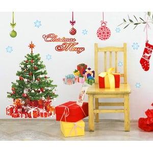 Samolepky Fanastick Santa, Balls and Tree