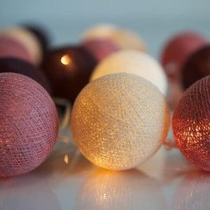 Svietiaca reťaz Irislights Dusty Pink, 10 svetielok
