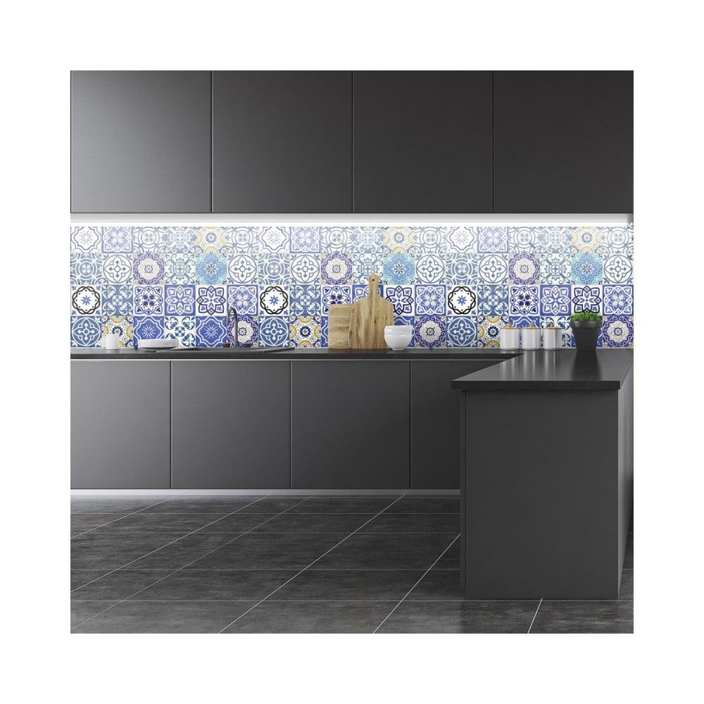 Sada 24 nástenných samolepiek Ambiance Wall Stickers Tiles Flamenco, 15 × 15 cm