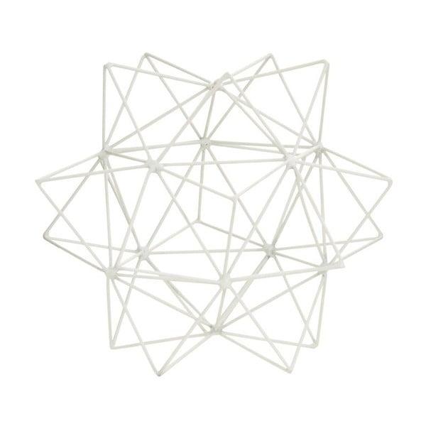 Dekorácia 3D Star White