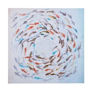 Obraz s motívom rýb Dino Bianchi, 100 x 100 cm