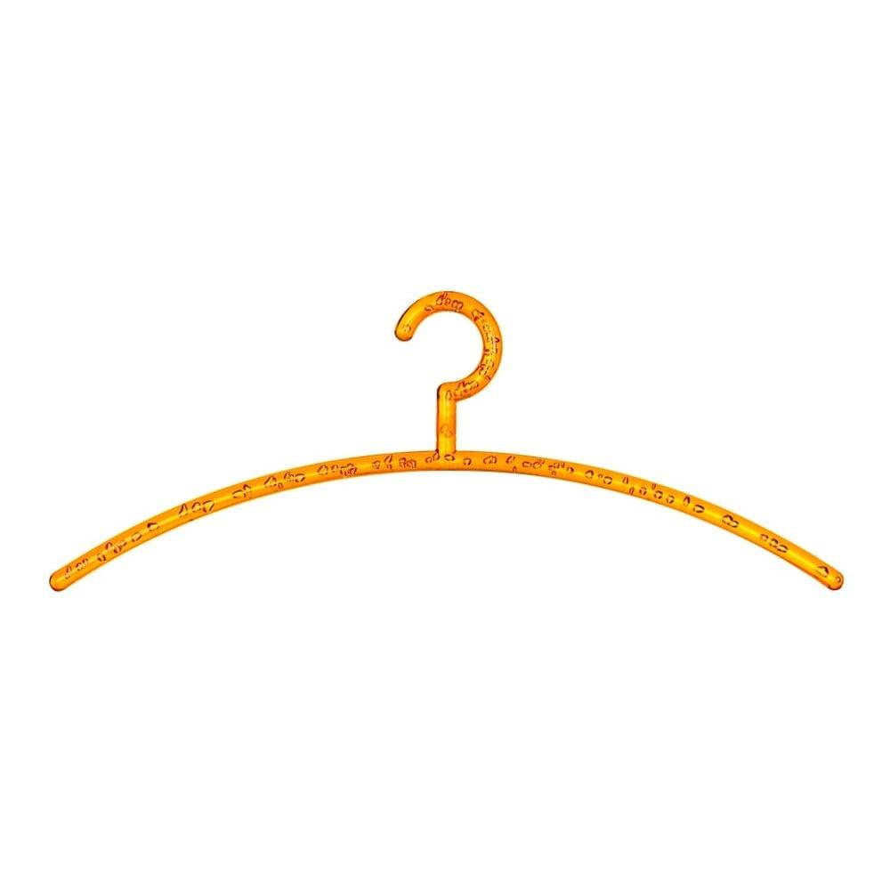 Oranžový vešiak na oblečenie Wenko Bubble