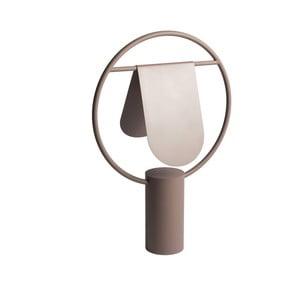 Hnedá stolová lampa z kovu HARTÔ Anae