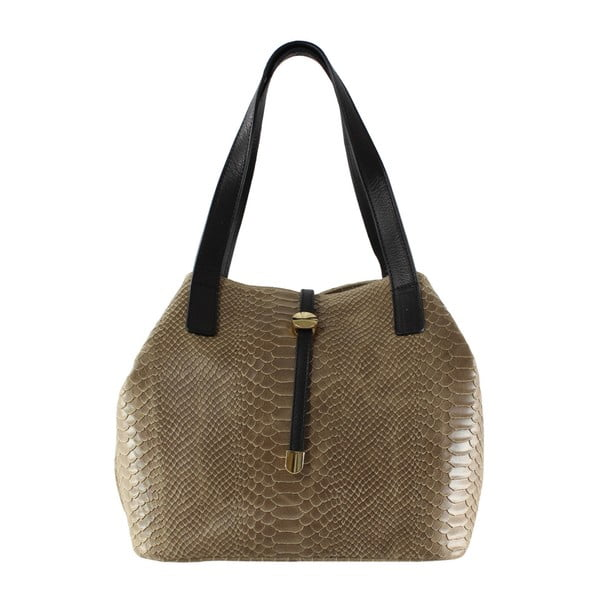 Taupe kožená kabelka Ilaria