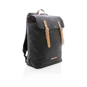 Čierny plátený batoh na notebook 15,6'' XD Collection, 19 l