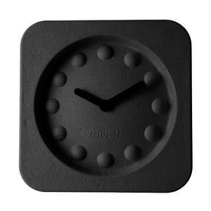 Čierne nástenné hodiny Zuiver Pulp Square