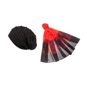 Čiapka so šatkou Red and Black