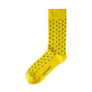 Žlté ponožky Black&Parker London Longstock Park, veľkosť 37 – 43