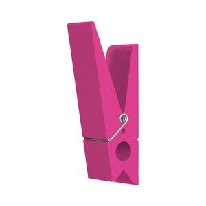 Ružový vešiak v tvare štipca Swab