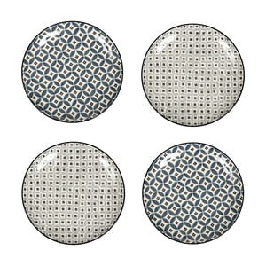 Sada 4 porcelánových tanierov Old Floor, 26 cm