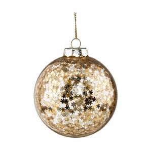 Vianočná závesná ozdoba zo skla v zlatej farbe Butlers Sparkle, ⌀ 8 cm