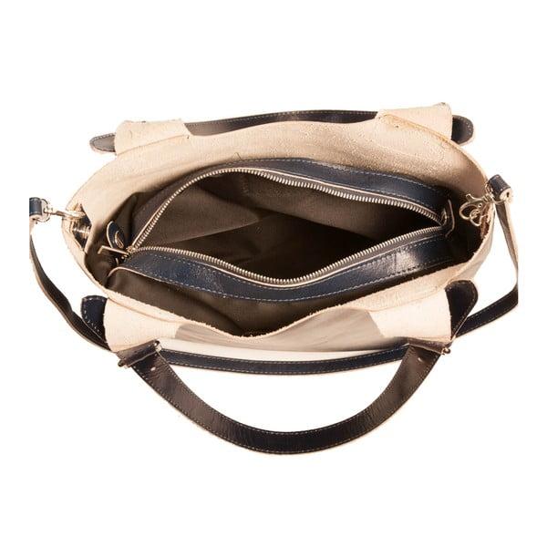 Tmavomodrá kabelka z pravej kože Andrea Cardone Stefano