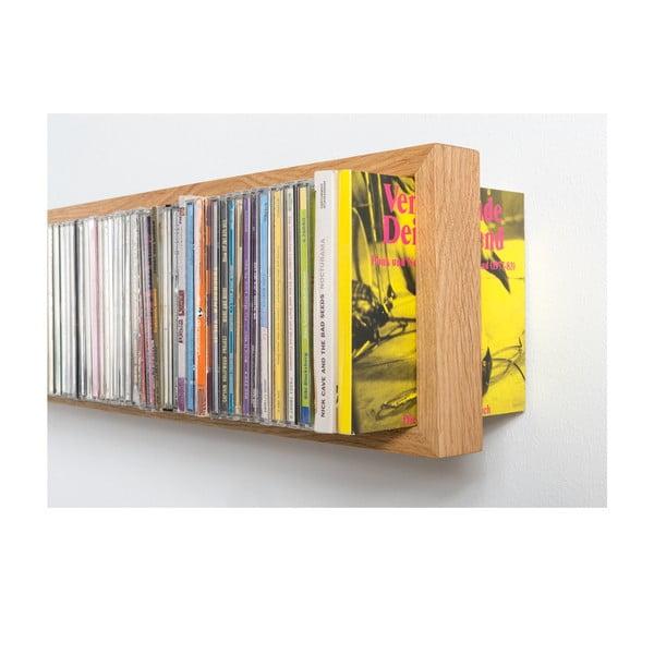 Polica na CD z dubového dreva das kleine b BCD, délka 32cm