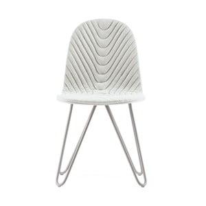 Krémová stolička s kovovými nohami IKER Mannequin X Wave
